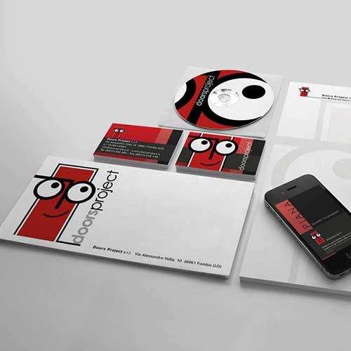 Logo Aziendale, Progetto Immagine Coordinata, Pieghevole Pubblicitario