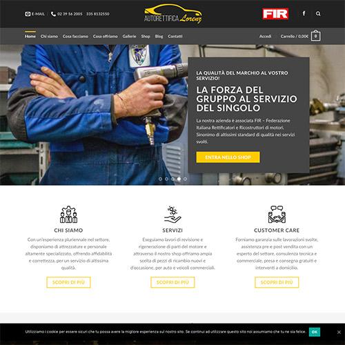 Sito Web E Shop Online Autorettifica Lorenz Srl